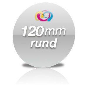 Flyer rund 120mm Hochglanz Folienkaschiert