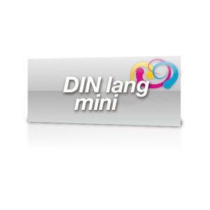 Aufkleber DinLang-Mini PVC