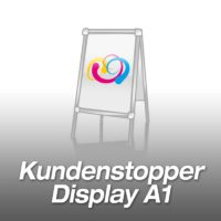 Kundenstopper (Display) A1 inkl. Druck